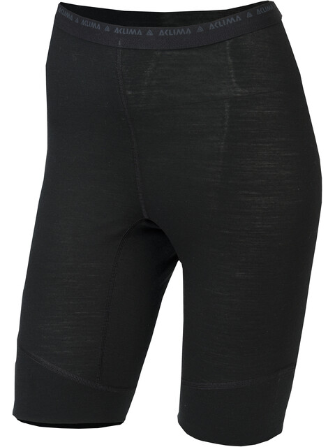 Aclima W's Lightwool Long Shorts Jet Black